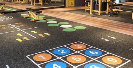 Pisos de gimnasio o para salas de maquinas