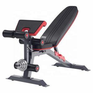 Banco de pesas, Banco de entrenamiento de fuerza ajustable para entrenamiento de cuerpo completo con plegado rápido- Versión 2020