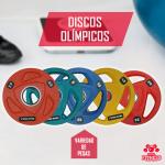 Discos olimpicos de goma total fitness